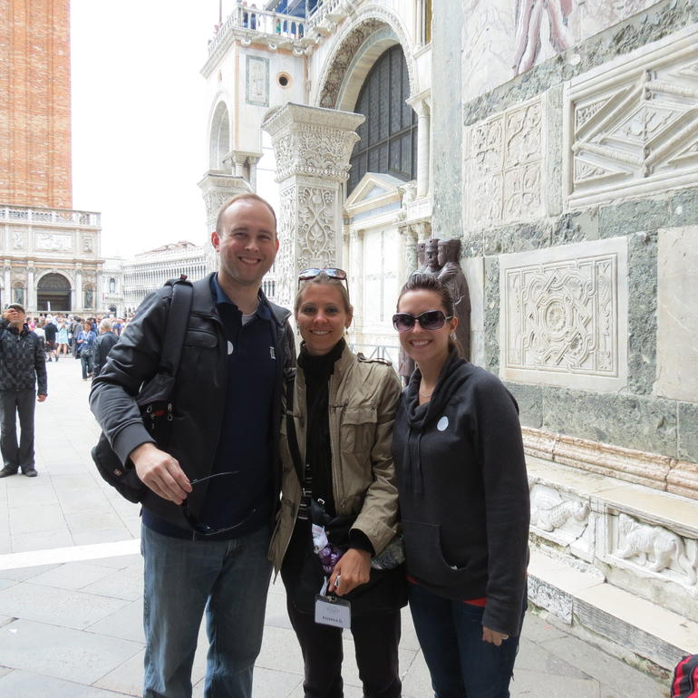 My Husband  and  I with our guide Frederica - Venice