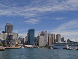 Circular Quay in Sydney - a view from the cruising ship , Darko P - April 2014