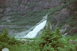 This was an unexpected surprise to see this HUGE waterfall of melting snow. , Evelyn I - July 2013