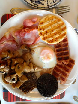 Breakfast served each morning at the B and B. Haggis anyone?! , VB Player2 - November 2013