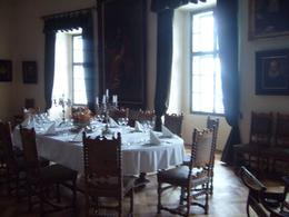 This dining room is still in use today for Birthday celebrations. Not for Christmas as the castle's 2nd floor hasn't got any heating., Karl G - February 2009