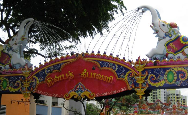 Heritage Tour - entrance to Little India - Singapore