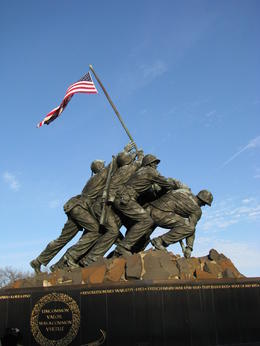 marine corps memorial just outside of arlington cemetery , Andrew B - March 2011