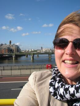 It was such a beautiful day for the open top bus ride. No rain, only beautiful blue skies., Kay W - October 2008