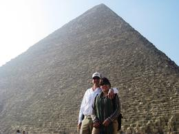 Laura and Juan at the pyramids., Juan Jose G - May 2010