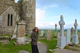 Wife at Rock of Cashel , JumpingNorman - May 2014