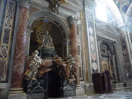 One of the Bellini sculptures in St Peter's , paul t - March 2014