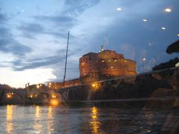 Photo of Rome Rome Tiber River Night Cruise with Dinner or Wine St Angelo from River