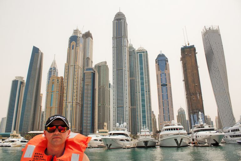 Me in front of Dubai Marina