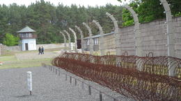 Photo of Berlin Sachsenhausen Concentration Camp Memorial Walking Tour The Perimeter Fence to Protect the Inmates!
