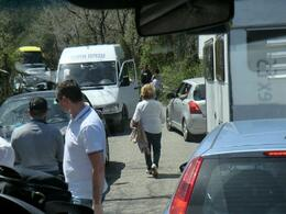 Huge trafic jam on Vesuvius, the driver Antonio did magic to get us up and down , E.N. H - April 2014
