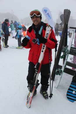 My son, Biaggi, is taking a ski lesson, very interesting , Devi S - October 2015