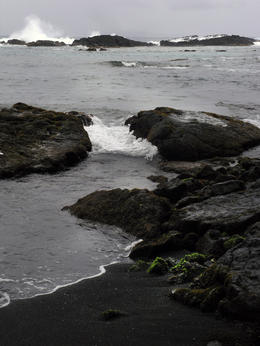 Photo of Oahu Big Island Day Trip: Volcanoes National Park from Oahu Black sand beach