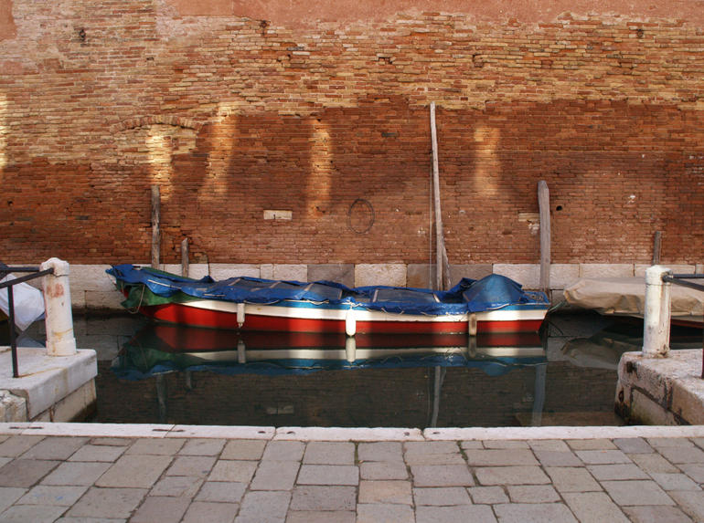boat, water and reflection - Venice