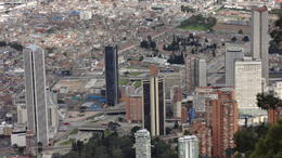 Bogotá view from Montserrat hill. , Paulo Roberto Silva - May 2014