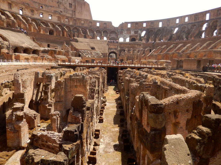 inside view of the Colosseum - Rome