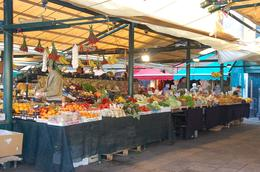 Fresh produce market in Venice by Rialto Bridge. Next to it is the fish market. - November 2008