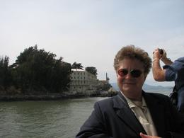 My Mum on the cruise with Alcatraz on the background - August 2009