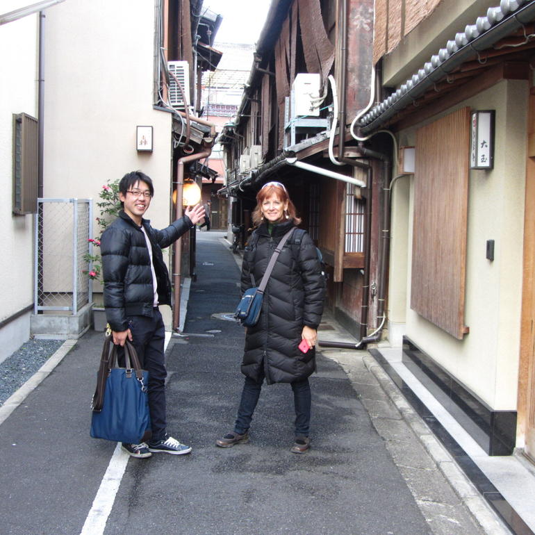 Our guide showing us the way - Kyoto