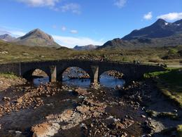 View of the Black Cuillin mountains from Sligachan on the Isle of Skye, laura s - June 2014