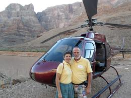 Photo of Las Vegas Ultimate Grand Canyon 4-in-1 Helicopter Tour The happy couple!