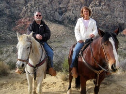 Photo of Las Vegas Morning Maverick Horseback Ride with Breakfast This is us in Redrock Canyon