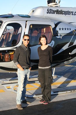 Stopped for a quick view of the Hualapai Nation and of course a quick photo opp with my very beautiful pilot!! , Juan R - January 2014