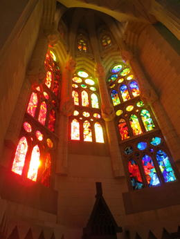 Photo of Barcelona Skip the Line: Barcelona Sagrada Familia Tour Afternoon light through the windows of the church.