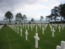 Amid the graves of about 9000 of the many fallen American soldiers, looking north toward the English Channel. - September 2009