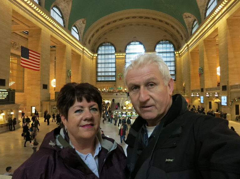 Me and the wife at Grand Central.