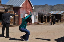 Photo of Las Vegas Arizona Ghost Towns and Wild-West Day Trip from Las Vegas Death at high noon - audience participation in Chloride gunfight.