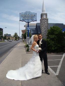 Photo of Las Vegas Elvis Wedding at Graceland Wedding Chapel Just Married