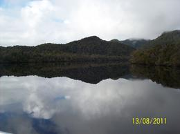 Photo of Tasmania Gordon River Cruise from Strahan Mirror Image Including Sky