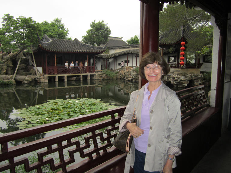 In the gardens in Suzhou.