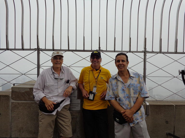 Taken with Jim, our tour guide. - New York City