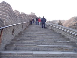 These are just some of the visitors to the Great Wall climbing the hundreds of steps needed to reach the top of this particular section. , Gordon B - March 2012