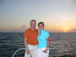 Photo of Aruba Aruba Sunset Catamaran Cruise The happy couple - Aruba Sunset