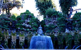 Photo of Rome Hadrian's Villa and Villa d'Este Half-Day Trip from Rome The Oval Fountain at Villa d'Este