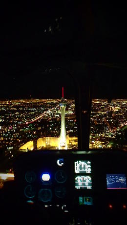 Photo of Las Vegas Las Vegas Strip Night Flight by Helicopter with Transport The Stratosphere Hotel
