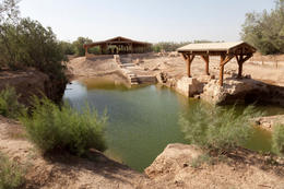 Biblical site: Bethany at River Jordan - considered to be the site of the baptism of Jesus - November 2011