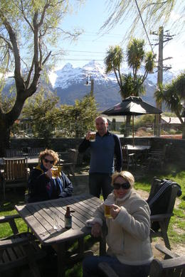 A well earned brew at the end of the jetboat ride !, Tighthead Prop - March 2014