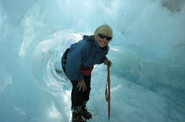 Entering the ice cave - Jeanette McCluskey , Jeanette M - March 2012