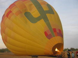 Photo of Phoenix Phoenix Hot Air Balloon Ride Inflating the balloon