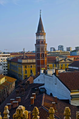 Milan chimneys from the top of the Duomo , neeraj g - October 2015