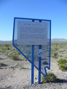 Photo of Las Vegas Death Valley Day Trip from Las Vegas Nevada Nuclear Test Site sign