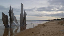 Omaha Beach and the memorial , Christine R - January 2013