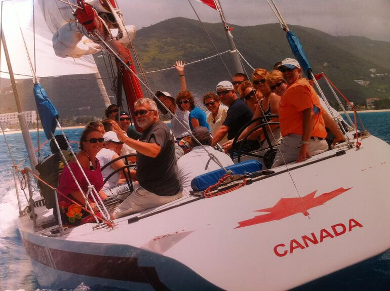 Our Crew on the Canada II - St Maarten