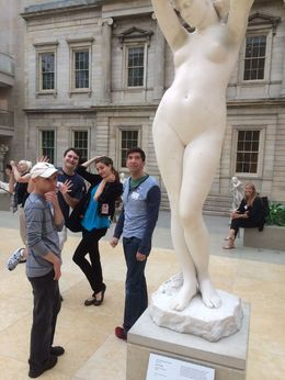 While Edwin and Philip studied the statue, Korey and Bex photobombed the shot. Typical behavior on this lighthearted but educational tour of the Metropolitan Museum of Art. , Joe S - September 2015