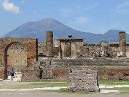 Pompeii with Mt Vesuvius in the back ground , blobbydave - May 2014