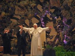 Photo of Rome Papal Audience Ticket at Vatican City Pope Benedict greets the crowd!